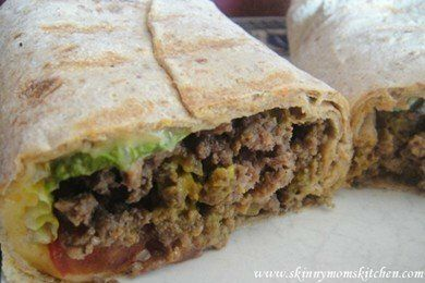 Low Calorie Cheeseburger Wrap