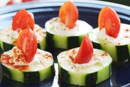 Cucumber Tomato Bites
