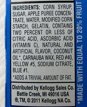 fruitsnackingredients