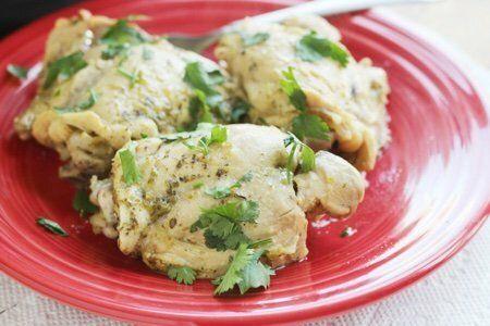 Green Salsa Chicken in an Instant Pot