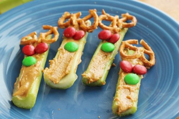 Celery Reindeer: A Healthy Holiday Snack