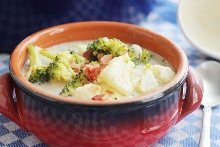 Roast Cauliflower Broccoli Soup